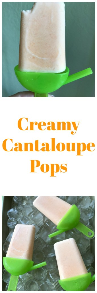 Creamy cantaloupe pops can be made in time for the kids to get home from school.