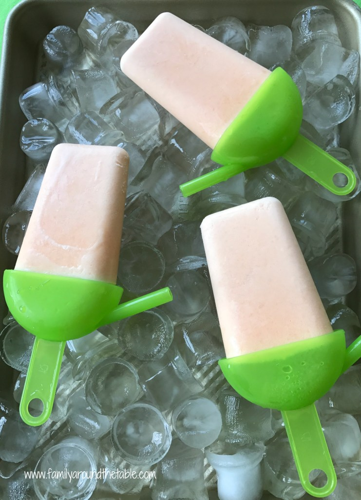 Creamy Cantaloupe Pops are a refreshing after-school treat.