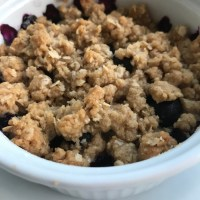 Blueberry Crisp for Two