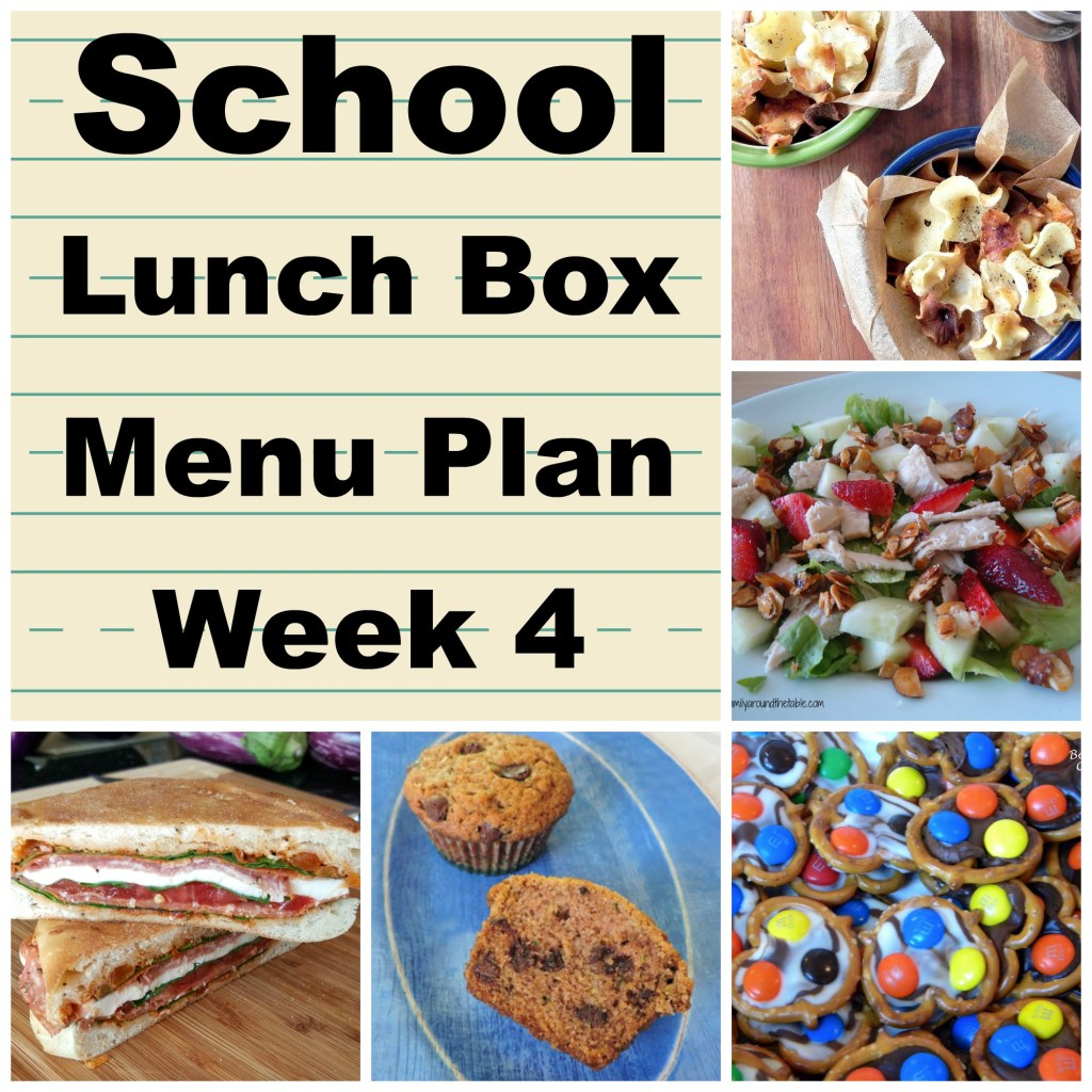 A muffin, salad, sandwich, chips and a treat are featured in this week's menu.