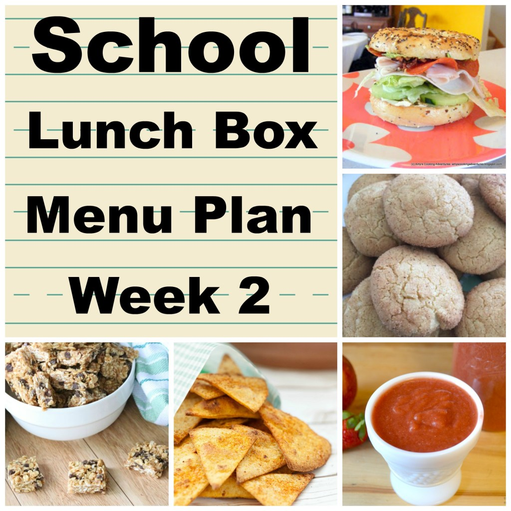 School Lunch Box Menu Plan Week 2 is full of yummy ideas.