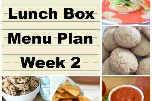 School Lunch Box Menu Plan Week 2