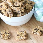 Healthy oatmeal chocolate chip no-bake bars are a sweet treat in any lunch box.