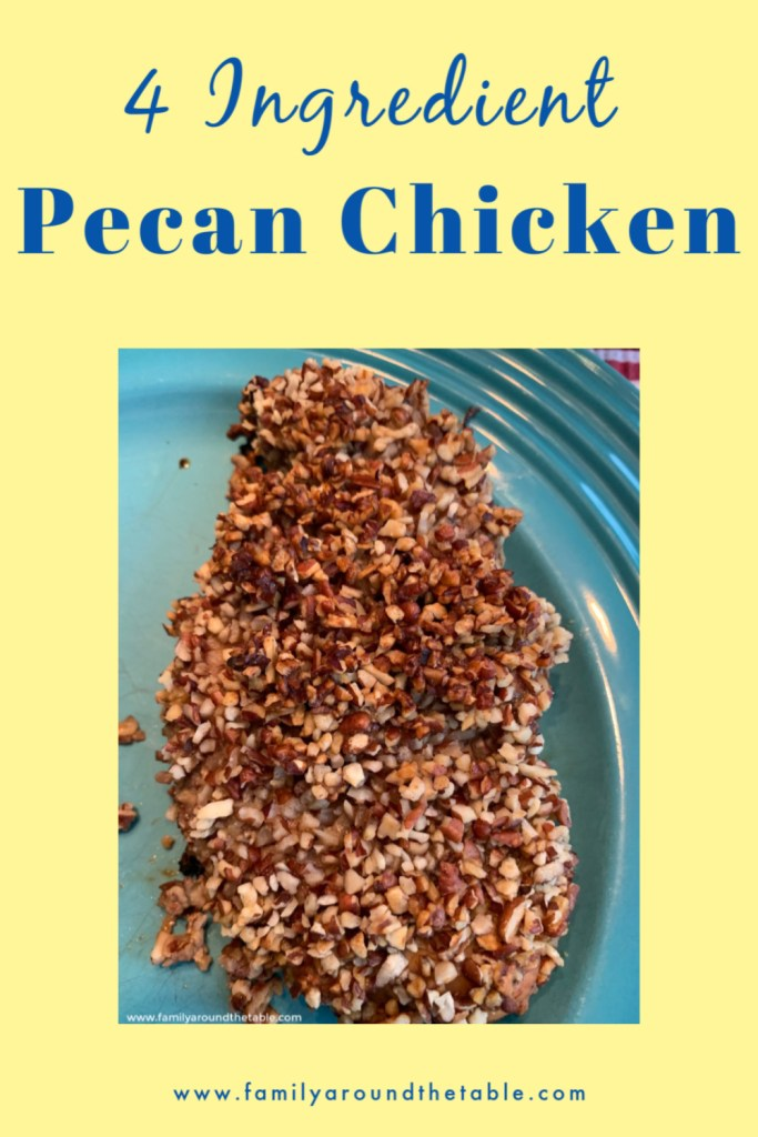 Pecan chicken pin image
