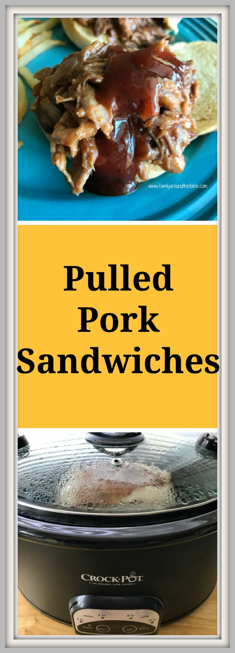 Pulled pork cooks all day in the crock pot and is ready with little prep.