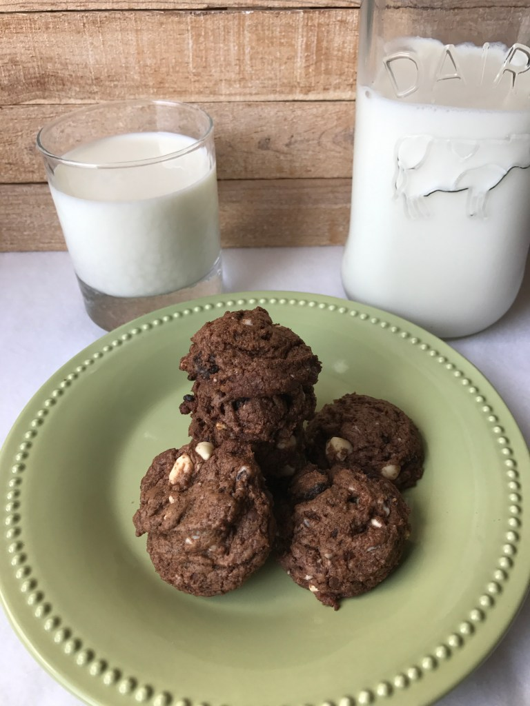 Quadruple chocolate chunk cookies are a delicious treat.