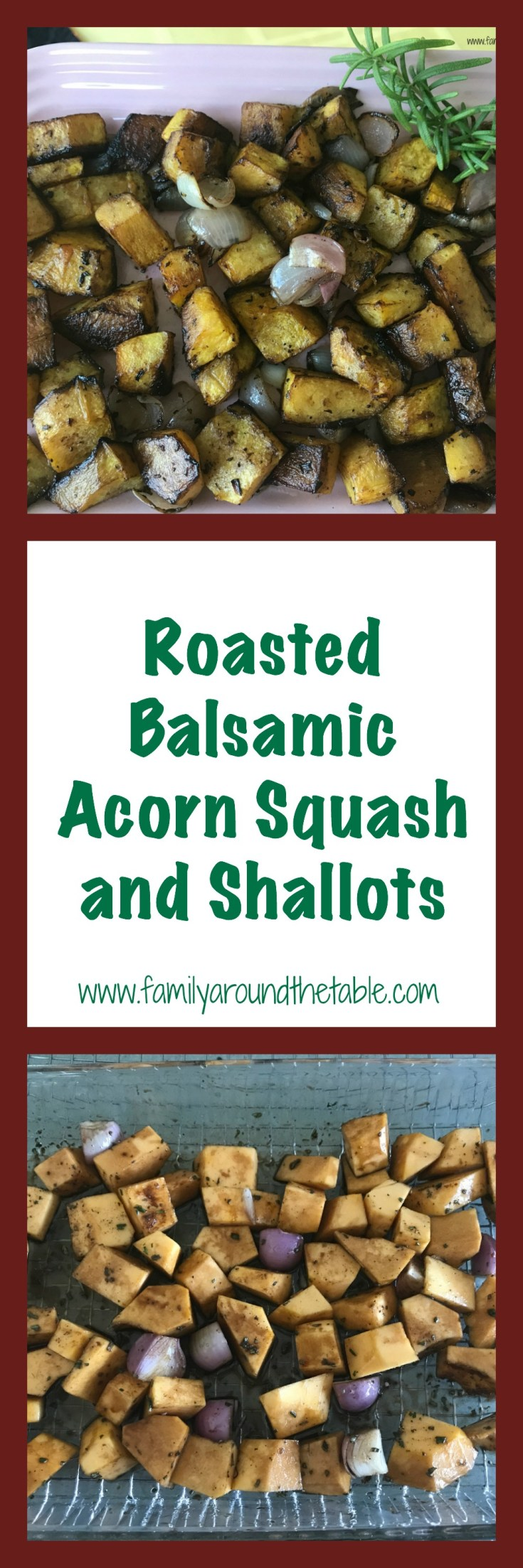 Make the best of fall produce with roasted balsamic acorn squash and shallots.