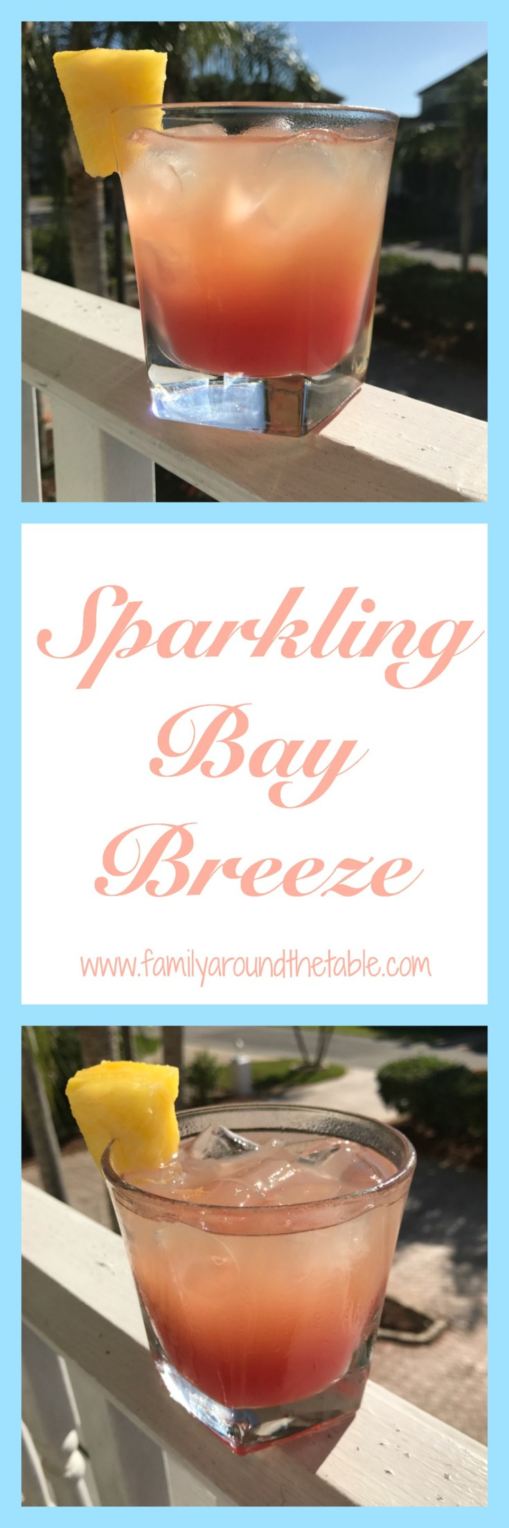 A sparkling bay breeze is a great cocktail for happy hour.