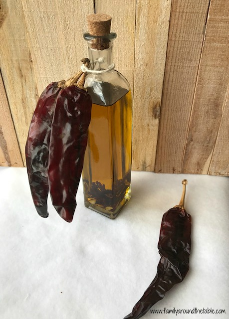 Guajillo chili and garlic oil makes a great gift.
