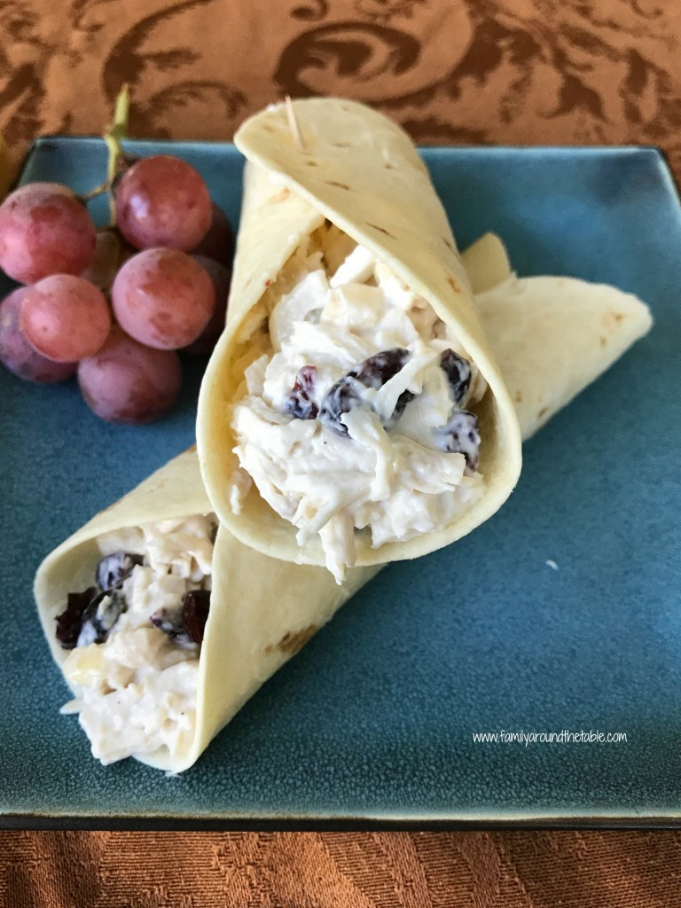 Cranberry Almond Chicken salad makes a great lunch.