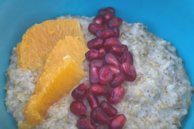 Fruit and oats make for a delicious breakfast.