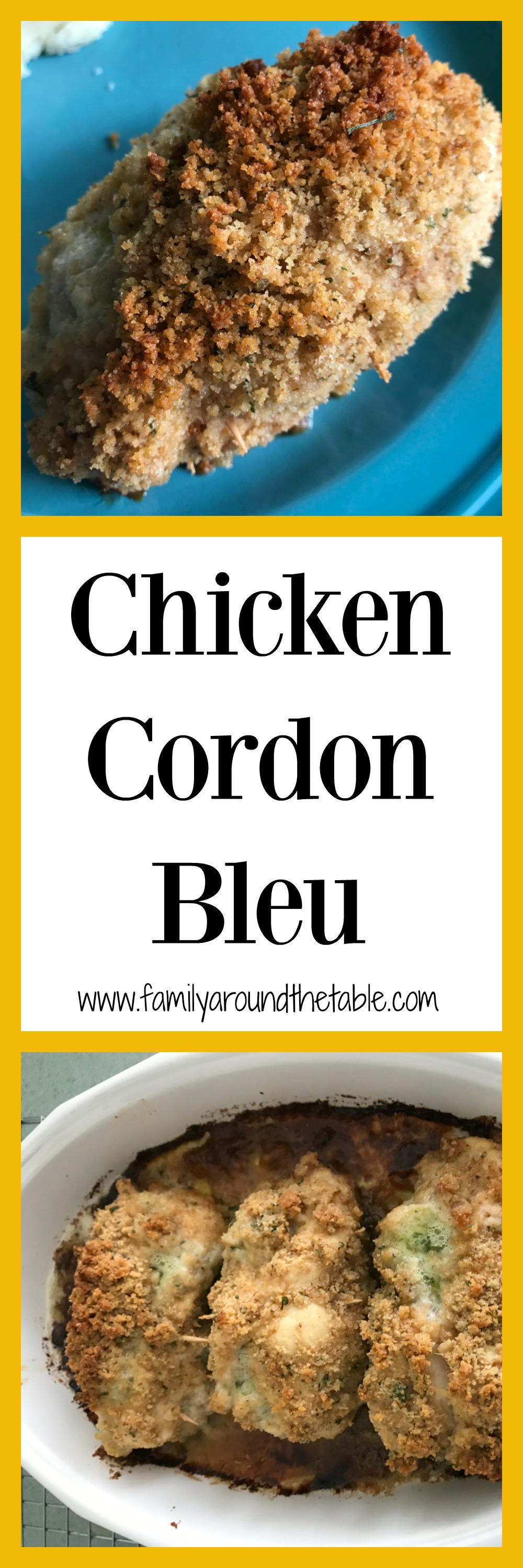 Chicken Cordon Bleu is an impressive dish for company.