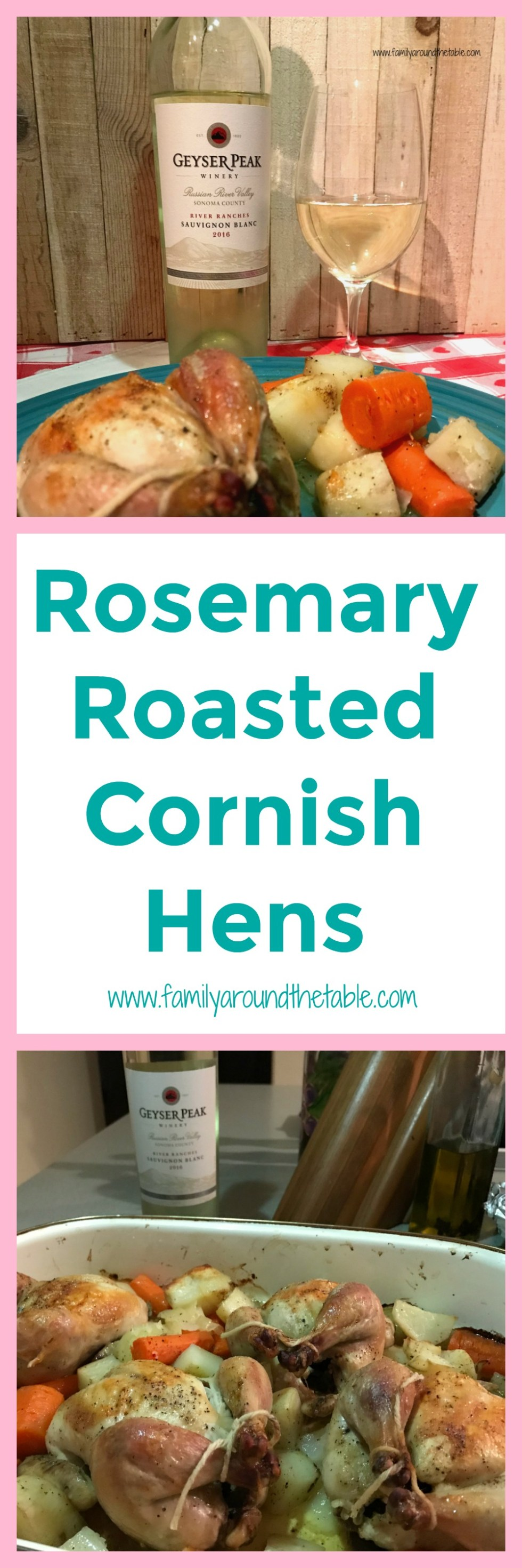 Rosemary roasted Cornish hens are a nice change from the same old meals.