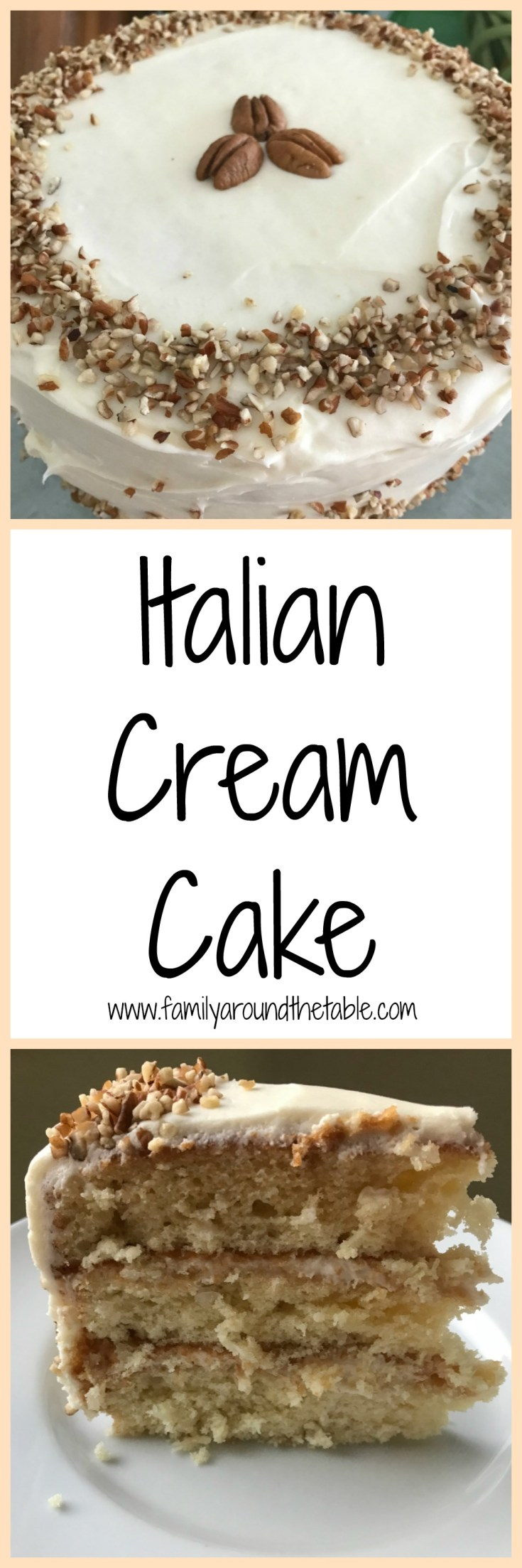 Italian Cream Cake, also known as Italian Wedding Cake, is perfect for any special occasion.