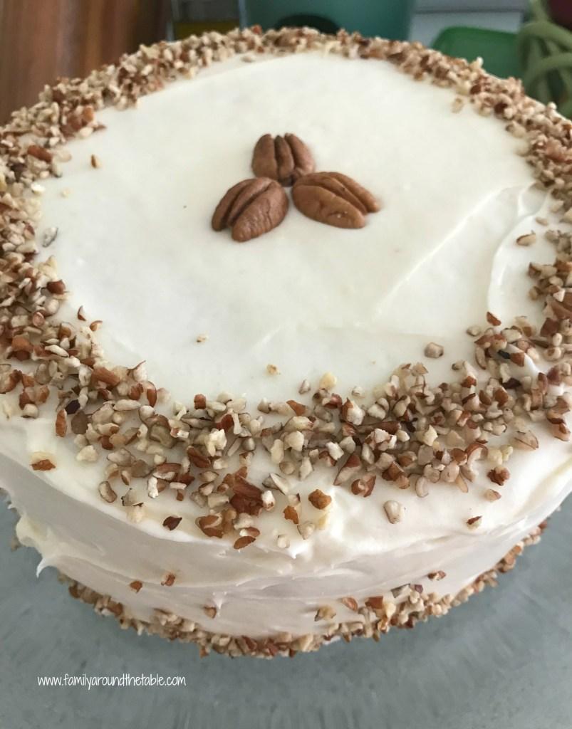 Italian Cream Cake with Nutty Cream Cheese Frosting • Family Around ...