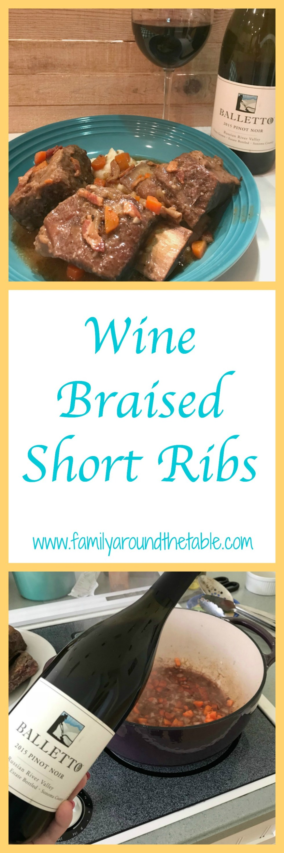 Wine braised short ribs are mouth watering good.