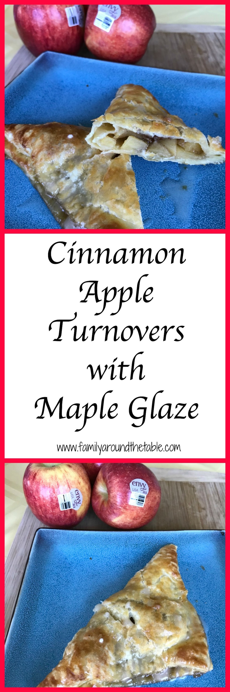 Light and flaky cinnamon apple turnovers with maple glaze are a delicious dessert for any occasion.