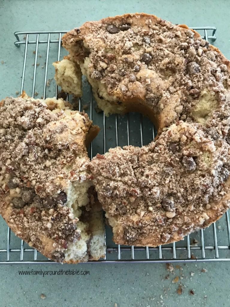 Cinnamon Nut Coffee Cake is a sweet breakfast treat.