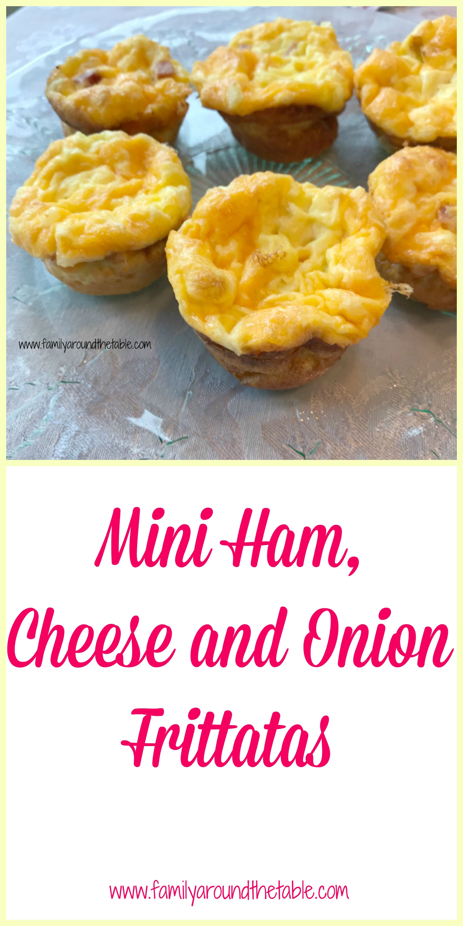 Mini ham, cheese and onion frittatas make a great brunch item.