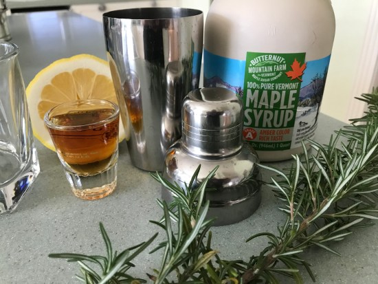 Just 4 ingredients make this tasty bourbon maple sour.