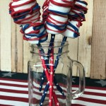 Firecracker Marshmallow Pops are a great favor idea for a July 4th party.