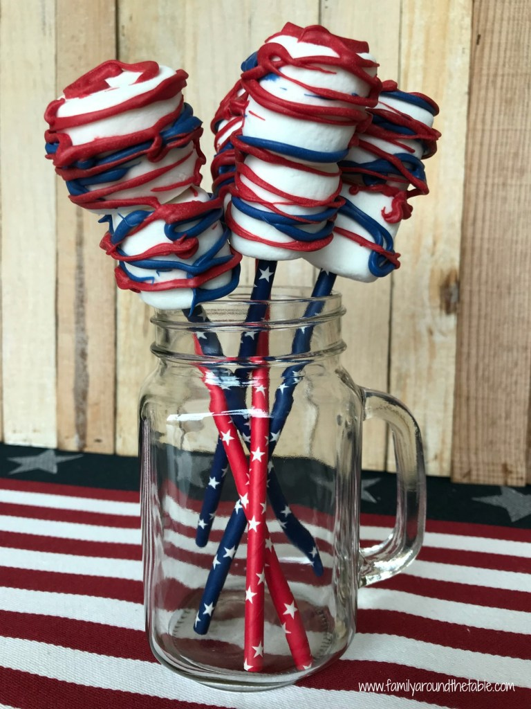 Firecracker Marshmallow Pops