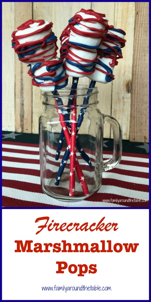 Firecracker Marshmallow Pops are a great favor idea for a July 4th party. #July4th