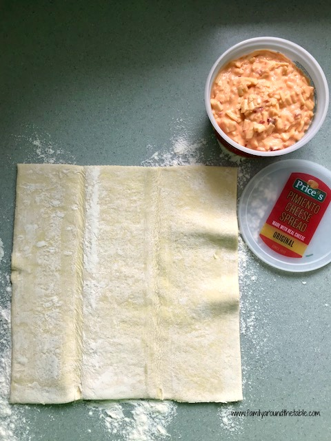 Prices Original Pimiento Cheese and puff pastry make a delicious appetizer.