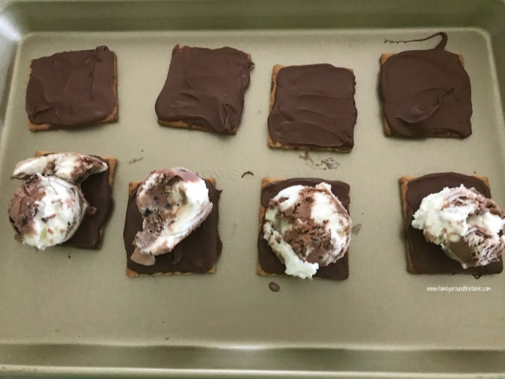 Chocolate Ice Cream Sandwich Squares can be customized with any favorite ice cream flavors.
