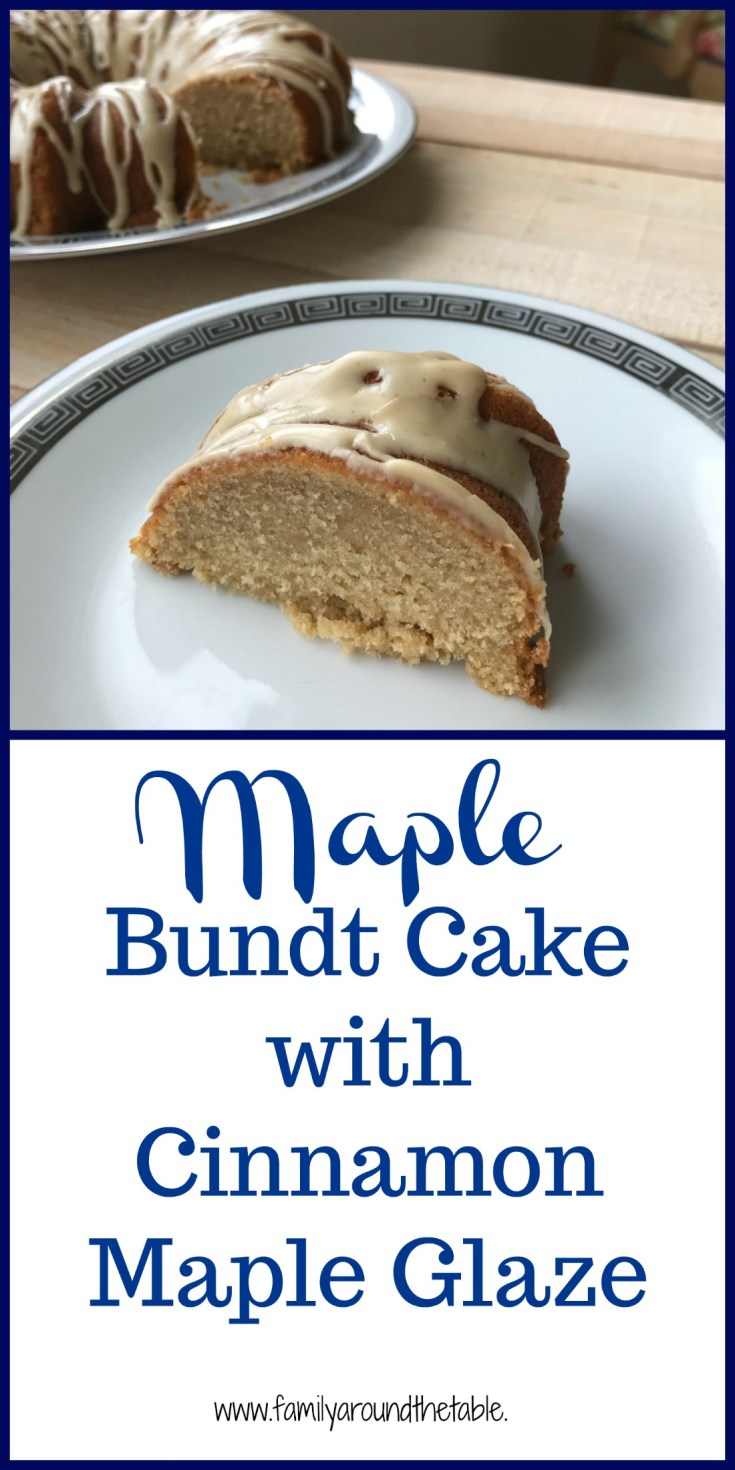 Maple Bundt cake with cinnamon maple glaze uses real maple syrup from Vermont. #FarmersMarketWeek