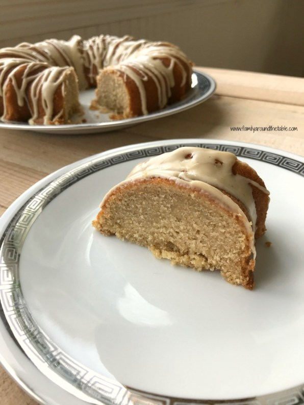 Maple Bundt cake with cinnamon maple glaze uses real maple syrup from Vermont.