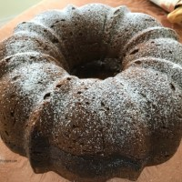 Chocolate Truffle Pumpkin Pound Cake