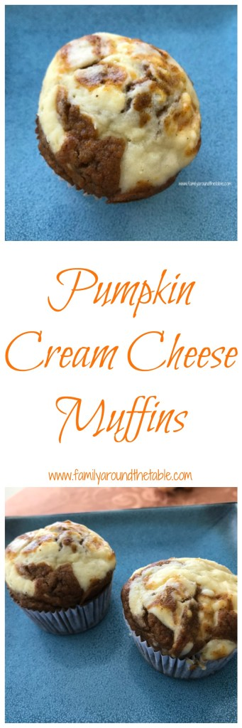 Pumpkin Cream Cheese Muffins are a great grab and go breakfast. #PumpkinWeek