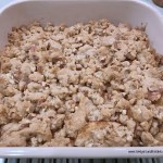 Prairie apple crunch is warm from the oven after dinner.