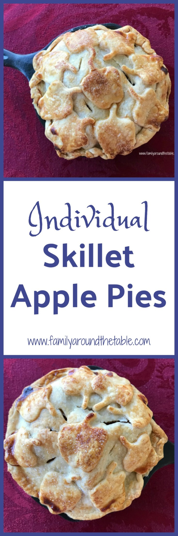 Everyone loves having their own dessert. Individual skillet apple pies are the perfect fall dessert.