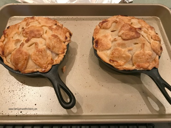 Individual skillet apple pies are a fun way to serve dessert to family and friends.