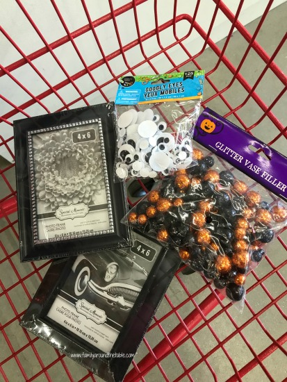 Everything you need to make DIY Halloween Picture Frames.