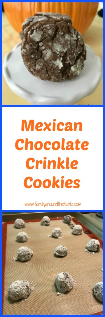 Mexican Chocolate Crinkle Cookies are slightly sweet with a hint of warming spice.