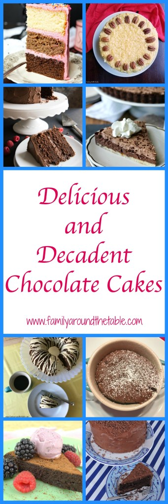 A delicious collection of decadent and delicious chocolate cake recipes. #Choctoberfest