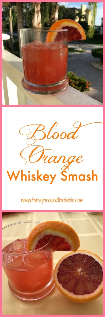 A blood orange whiskey smash is made with your favorite whiskey and fresh blood orange juice. #FreakyFruitsFriday