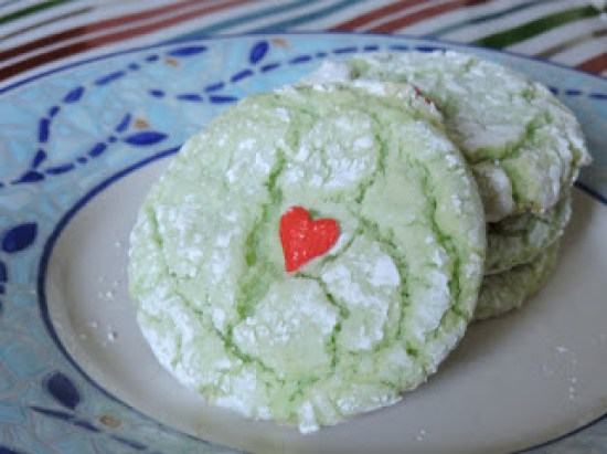 Grinch cookies from Jolene's Recipe Journal