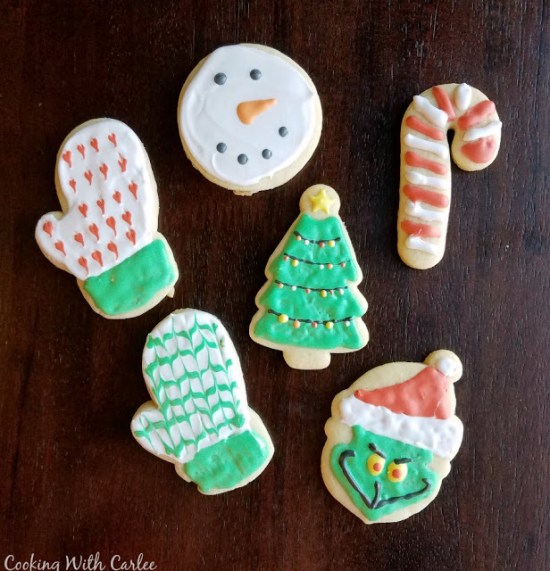 Decorated sugar cookies from Cooking with Carlee.