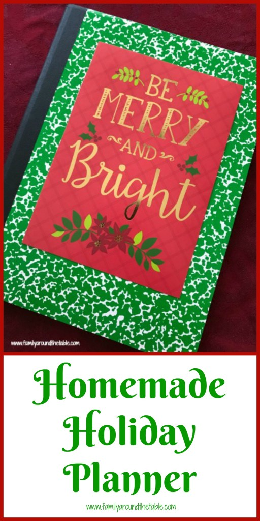 This homemade holiday planner is easy, budget friendly and makes a great gift! #DollarTreeHoliday