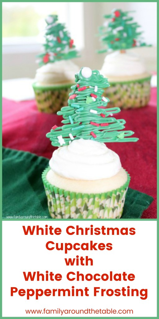 Festive cupcakes make a delightful dessert for the holidays. #ChristmasSweetsWeek