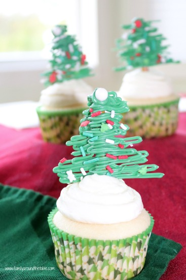 Festive cupcakes make a delightful dessert for the holidays.
