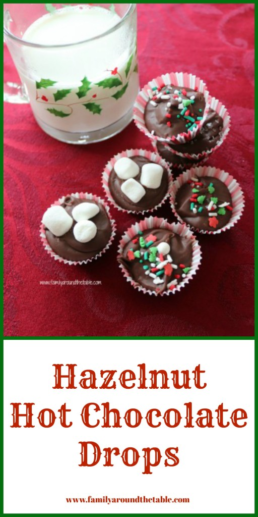 Hazelnut hot chocolate drops make rich, creamy and delicious hot chocolate. #ChristmasSweetsWeek