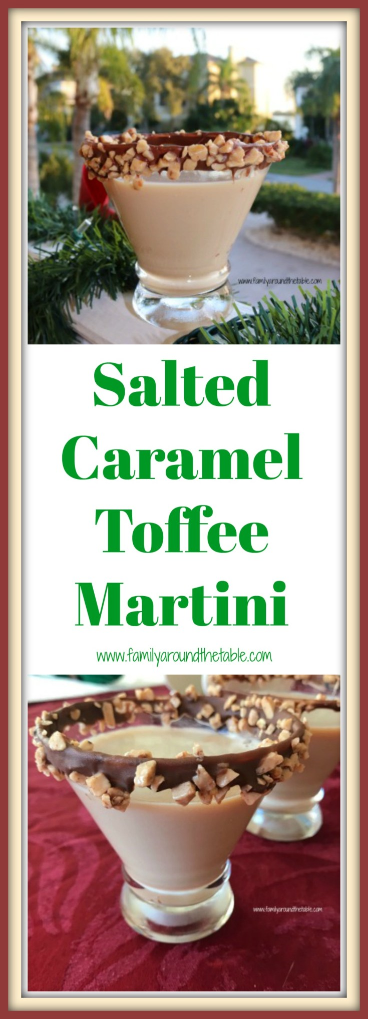 Salted Caramel Toffee Martini is a festive drink for any holiday party.