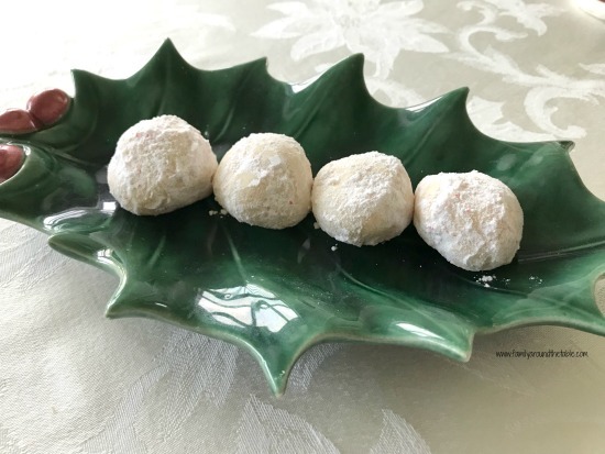 Peppermint snowballs are filled with a burst of peppermint.