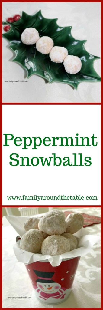Peppermint snowballs are filled with a burst of peppermint. #ChristmasCookiesWeek
