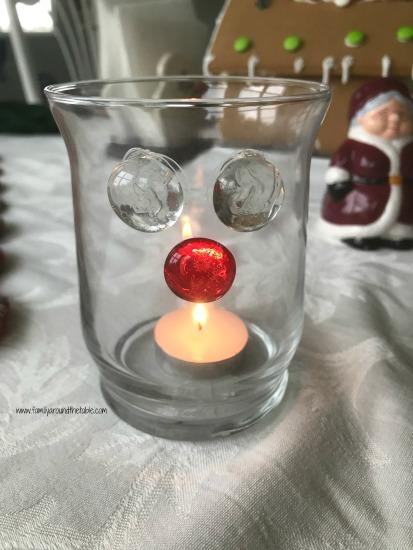 DIY Reindeer candle holder